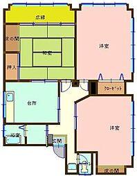 広島県呉市警固屋8丁目の賃貸アパートの間取り