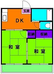 静岡県浜松市東区中郡町の賃貸アパートの間取り