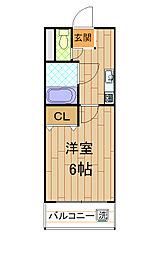 パライッソ神戸[4階]の間取り