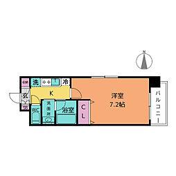 クレジデンス新栄[2階]の間取り