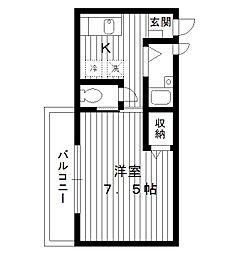 東京都豊島区長崎3丁目の賃貸アパートの間取り