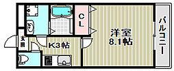 大阪府堺市西区浜寺諏訪森町西3丁の賃貸アパートの間取り