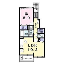 仮)東道野辺1丁目アパート[102号室]の間取り