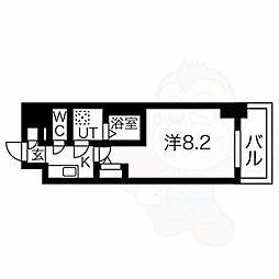 エスリード新栄プライム 9階1Kの間取り