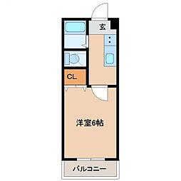カーサTIKI南宮崎(カーサチキ)[305号室号室]の間取り
