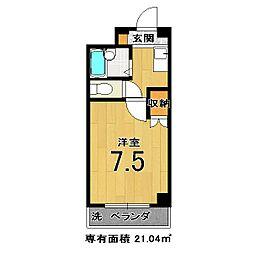 モンエスト東福寺[203号室]の間取り