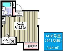 浜村マンション[402号室]の間取り