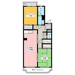 サンロイヤル[3階]の間取り