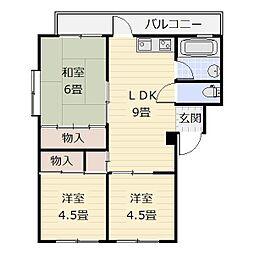 フォワード八幡東[2階]の間取り