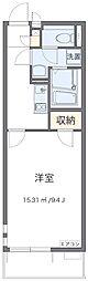 JR青梅線 河辺駅 徒歩10分の賃貸マンション 3階1Kの間取り