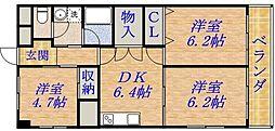 サンファミリーI[2階]の間取り