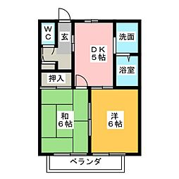 セフィラ21[2階]の間取り