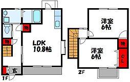 中川ハイツ[10-2号室]の間取り