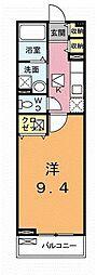 埼玉県北本市東間5丁目の賃貸アパートの間取り