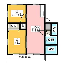 フルーツウッズ III[1階]の間取り