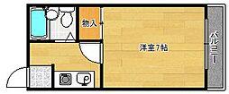 ロイヤルパーム[3階]の間取り
