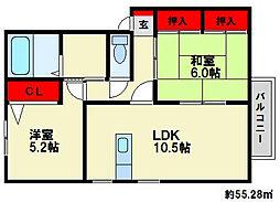 カーサ136[2階]の間取り