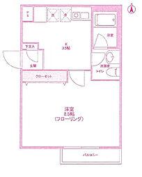 RESIDENCE MIZONOKUCHI[1階]の間取り
