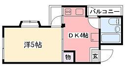 冨士家マンション[2階]の間取り