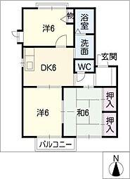 ファミールM・MIII[1階]の間取り