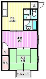 藤田コーポ[2階]の間取り