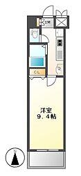 カスタリア志賀本通[9階]の間取り