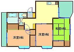 飯山マンション[202号室]の間取り