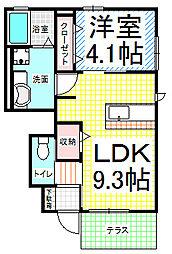 カーサ上松[1階]の間取り