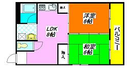 コーポ・谷村I 201号室[2階]の間取り