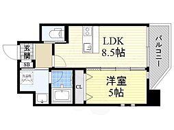 プレジオ江坂2 4階1LDKの間取り