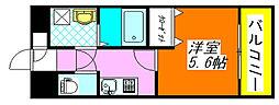 グランシス・高井田 306号室[3階]の間取り
