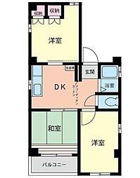 神奈川県横浜市南区白妙町1丁目の賃貸アパートの間取り
