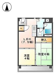 上飯田第2 2号棟[6階]の間取り