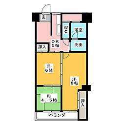 パラシオン覚王山 602[6階]の間取り