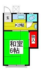 三景荘[2階]の間取り