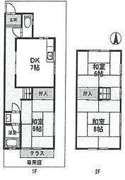 [テラスハウス] 兵庫県伊丹市野間7丁目 の賃貸【/】の間取り