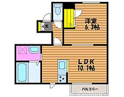 シトロニエ 1階1LDKの間取り