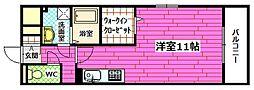 広島県安芸郡府中町青崎中の賃貸アパートの間取り