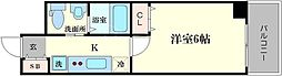 エステムコート難波サウスプレイスⅢラ・パーク[3階]の間取り