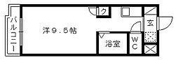 アップル第3マンション[302号室]の間取り