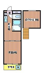 アンダルシア旭ヶ丘[1階]の間取り