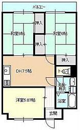 第3植野ビル[4階]の間取り