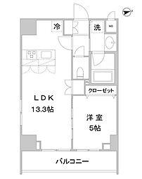 アスール北上野[10階]の間取り