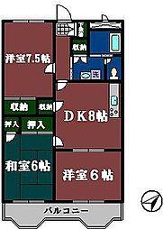 ファインドリブ[  1階号室]の間取り