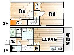 [テラスハウス] 福岡県北九州市小倉北区大畠1丁目 の賃貸【/】の間取り