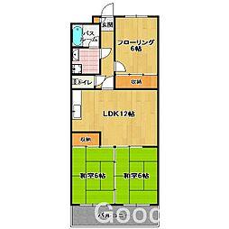 グリンビア III[2階]の間取り