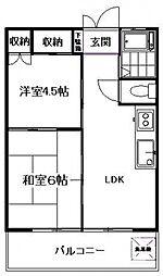 三田コーポ[502号室号室]の間取り