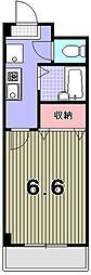 セントポ−リア丸太町[2階]の間取り