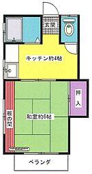 東京都北区桐ケ丘2丁目の賃貸アパートの間取り
