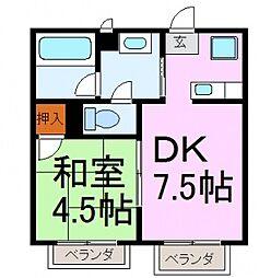 リーダーマンション[5階]の間取り
